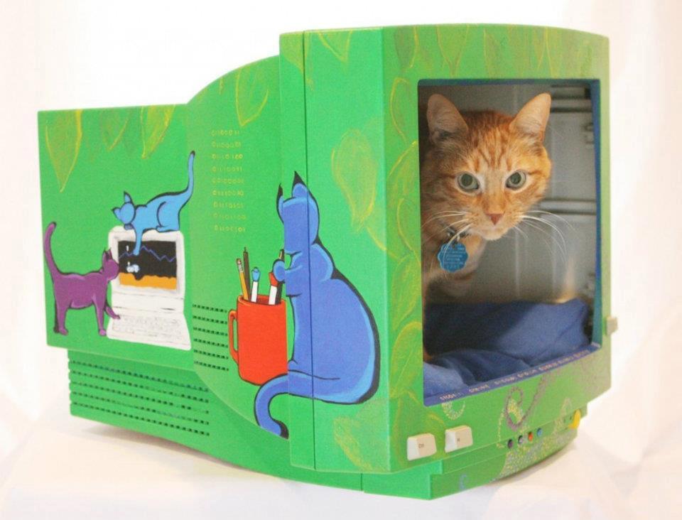 Домик для кошек и собаки своими руками
